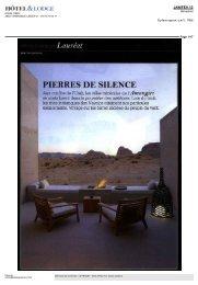 PIERRES DE SILENCE - Hôtel LE PRADEY