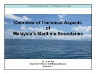 Overview of Technical Aspects of Malaysia's Maritime Boundaries