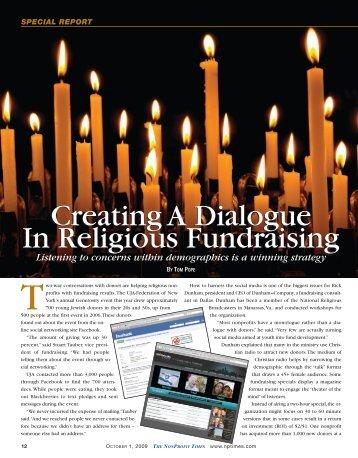Creating A Dialogue In Religious Fundraising Creating A Dialogue ...