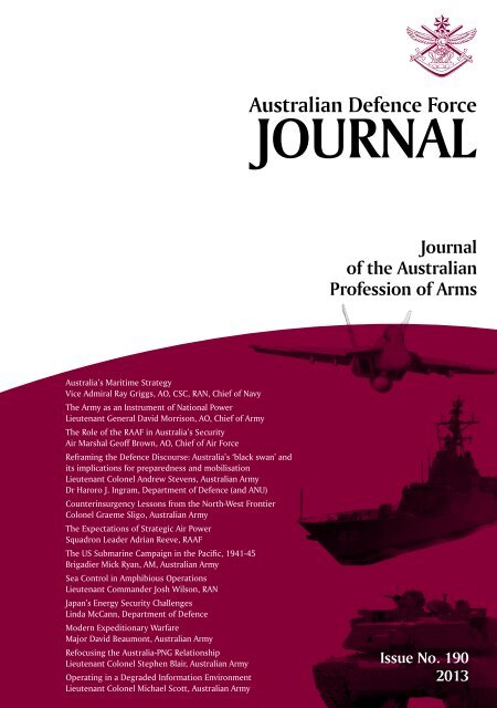 ISSUE 190 : Mar/Apr - 2013 - Australian Defence Force Journal