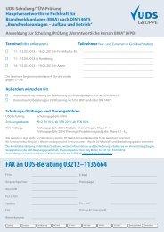 FAX an UDS-Beratung 03212–1135664 - UDS, Uwe Ungeheuer