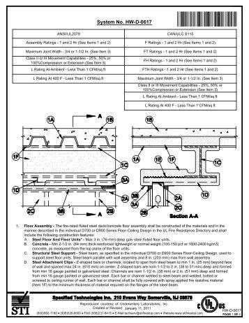 HW-D-0617 - STI - Specified Technologies Inc