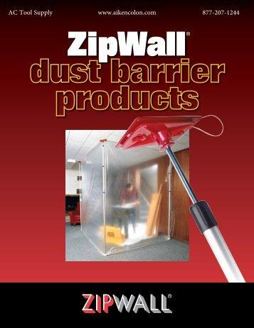 Zipwall Zip System Catalog