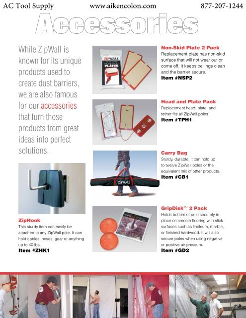 ZipWall Head Non-Skid Plate TPH1