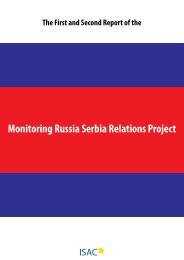 Monitoring Russia Serbia Relations Project - ISAC Fund