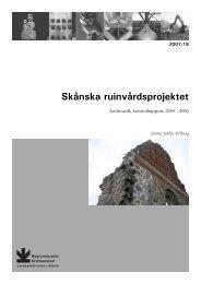 Skånska ruinvårdsprojektet - Regionmuseet Kristianstad