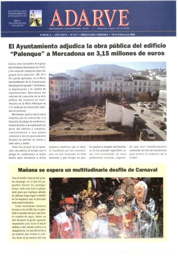 """Palenque"" a Mercadona en 3,15 millones de euros"