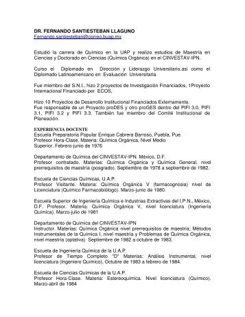 DR. FERNANDO SANTIESTEBAN LLAGUNO ... - Transparencia