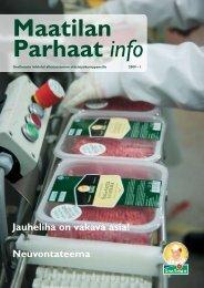 Maatilan Parhaat info 1 / 2009 - Snellman