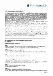 Profil Wirtschaftsclub im Literaturhaus e.V. Der Wirtschaftsclub im ...