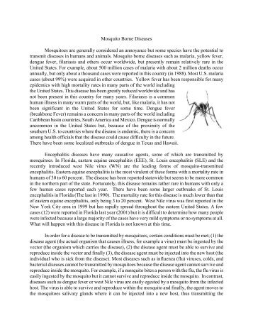Mosquito Borne Diseases Mosquitoes are ... - St. Lucie County
