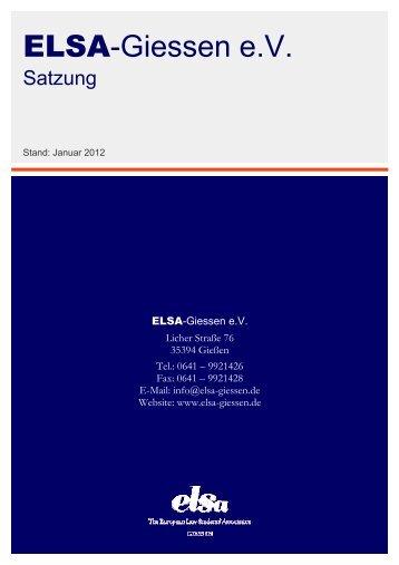Satzung - ELSA Germany