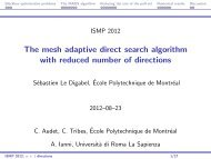 The mesh adaptive direct search algorithm with reduced ... - gerad