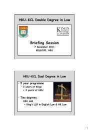 HKU-KCL Dual Degree in Law - Faculty of Law, The University of ...