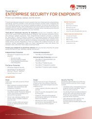 Enterprise Security for Endpoints Datasheet - Trend Micro