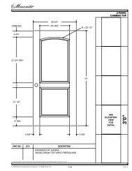 Barrington® Fiberglass Wood-Grain Textured (6'8