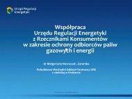 Współpraca Urzędu Regulacji Energetyki z Rzecznikami ...