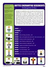 Kindergarten (5-6j.) - Bibel für Kinder