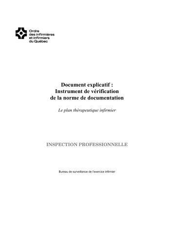 Instrument de vérification de la norme de documentation - Ordre des ...