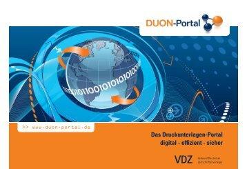 Das Druckunterlagen-Portal digital - effizient - sicher