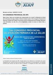 VII CONGRESO PROVINCIAL DE APS - Gobierno de la Provincia ...