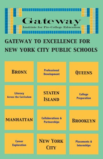 Services Guide - Gateway Institute for Pre-College Education - CUNY