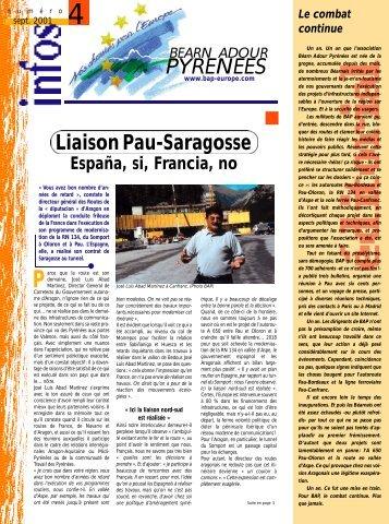 P Y R E N E E S Liaison Pau-Saragosse - Béarn Adour Pyrénées