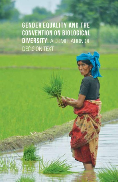 Gender Equality and the Convention on Biological - Gender Climate