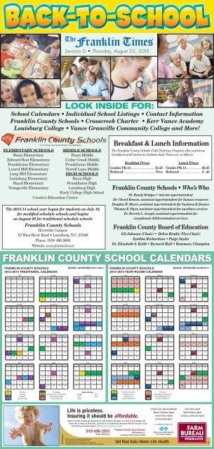 Hillsborough County Schools Calendar 2022 23.Back To School 2013 The Franklin Times