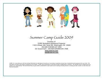 Summer Camp Guide 2009 - Cope-Inc.Com