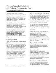 Fairfax County Public Schools 457 Deferred Compensation Plan ...
