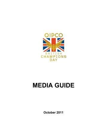 QIPCO British Champions Day 2011 Media Guide - Ascot Racecourse