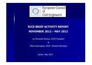 ECCE brief activity report Nov2012-May2013 - European Council of ...