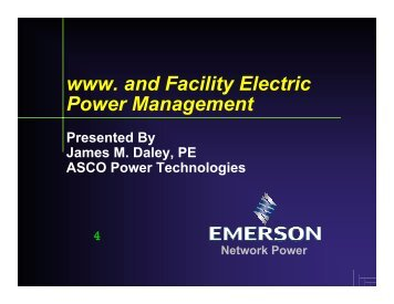 www and Facility Electric Power Management - Distributed Generation