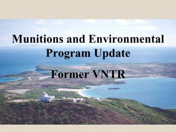 Vieques Update - U.S. National Response Team (NRT)
