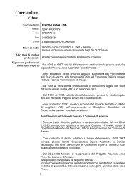 Pos. Org. Biagini Anna Lisa - Comune di Arezzo