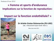 Femme et sports d'endurance Implications sur la fonction de ...