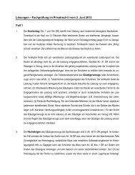 Lösungen – Fachprüfung im Privatrecht I vom 3. Juni 2013 Fall 1