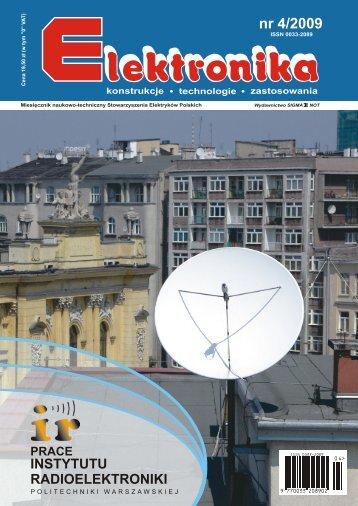 Elektronika 2009-04.pdf - Instytut Systemów Elektronicznych ...