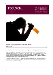 Focus on alcohol misuse among older people - Alcohol Action Ireland