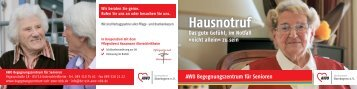 Hausnotruf - AWO Angebote für Senioren in Oberbayern