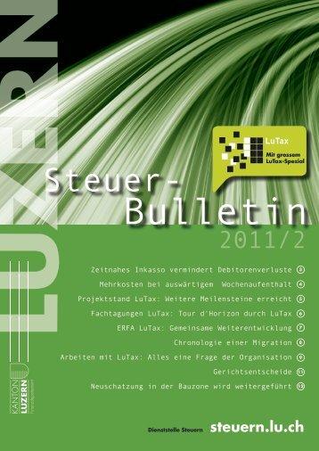 steuerbulletin 11 2 - Steuern Luzern - Kanton Luzern