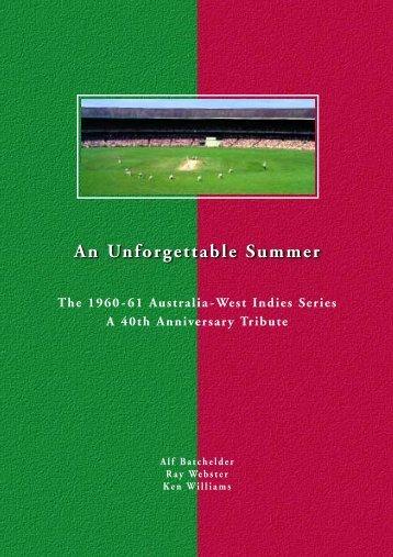 An Unforgettable Summer - Melbourne Cricket Club