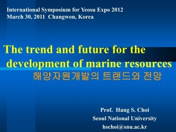 The Trend And Future For The Development Of Marine Resources