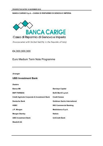 4000000000 Euro Medium Term Note Programme - Gruppo Banca ...