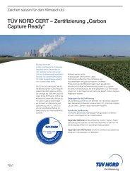 """TÜV NORD CERT – Zertifizierung """"Carbon Capture Ready"""""""