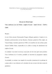 130204Discours Michel Sapin Visioconférence ... - ANDML