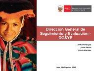 Dirección General de Seguimiento y Evaluación - DGSYE