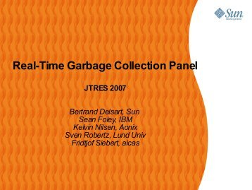 Real-Time Garbage Collection Panel