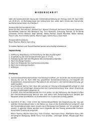 Konstituierende Sitzung - Gemeinde Sulz